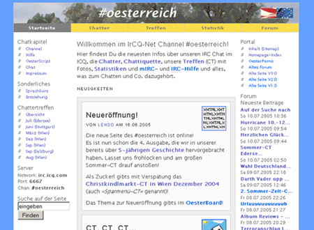 Design der vierten oesterchat-Seite (V4.0)